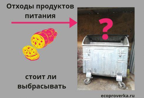 Стоит ли выбрасывать биологические отходы в мусорный контейнер?